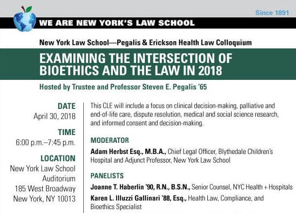 Examining the Intersection of Bioethics and the Law in 2018