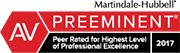Martindale-Hubbel Preeminent 2017: Peer Rated for Highest Level of Professional Excellence