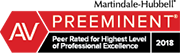 Martindale-Hubbell AV Preeminent 2018 : Peer Rated for Highest Level of Professional Excellence