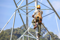 Electrical worker sustained injuries after a fall at work.